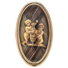 1790 Cupid Hair Gold Love Ring