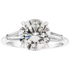 Roman Malakov, 2.56 Carat Round Diamond Three-Stone Engagement Ring
