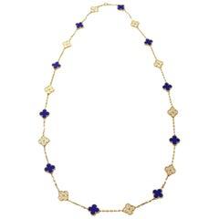 Van Cleef & Arpels 50th Anniversary Vintage Alhambra Necklace 18 Karat