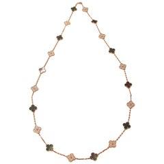 Van Cleef & Arpels 50th Anniversary Vintage Alhambra diamond Necklace