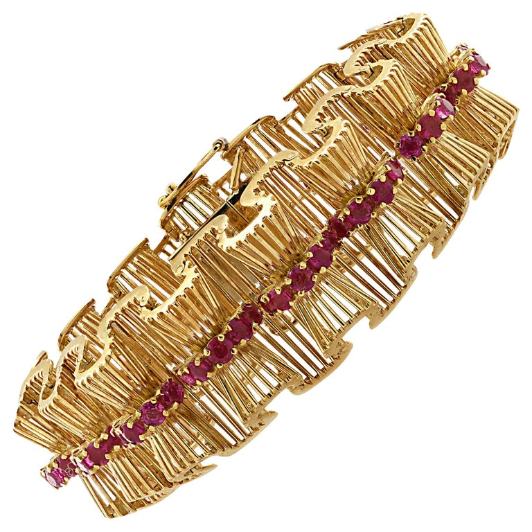Retro Tiffany & Co. Ruby Bracelet For Sale