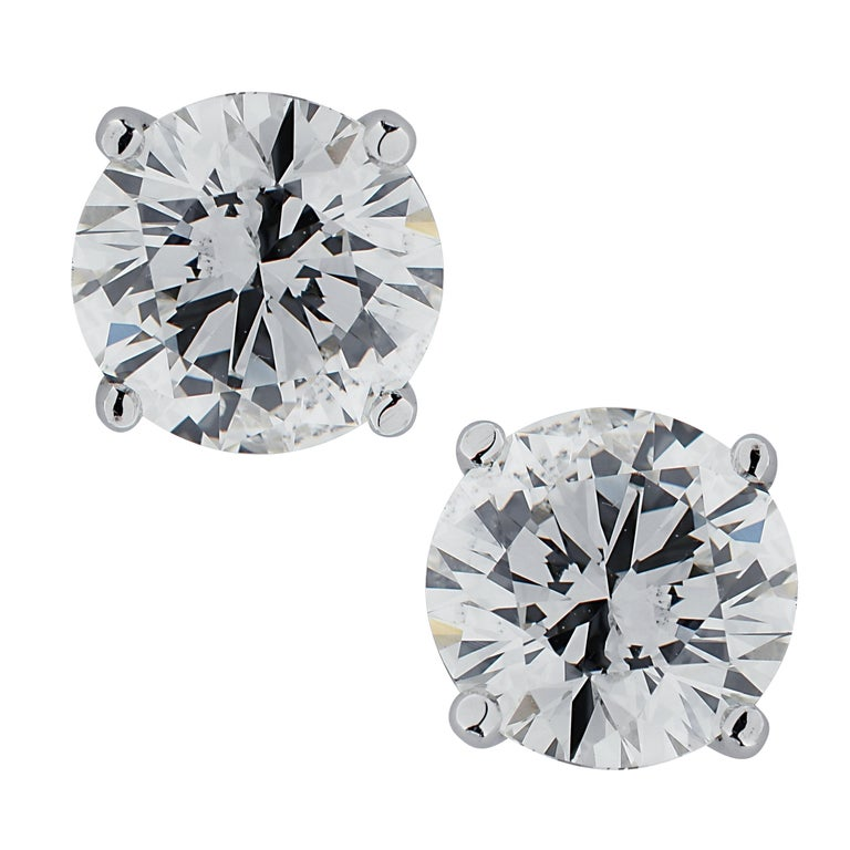 Vivid Diamonds 2.13 Carat Diamond Stud Earrings For Sale