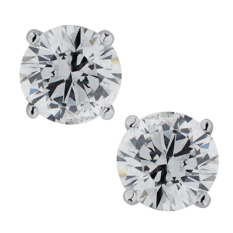 Vivid Diamonds 2.13 Carat Diamond Stud Earrings
