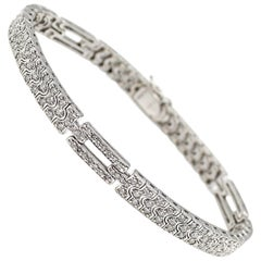 Pave Diamond Set Platinum Bracelet