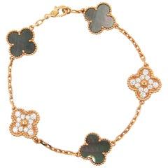 Van Cleef & Arpels Vintage Alhambra 50th Anniversary diamond Bracelet