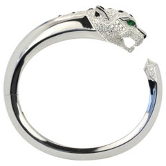 Panthere De Cartier Diamond Head Bracelet Emerald Eyes, Onyx