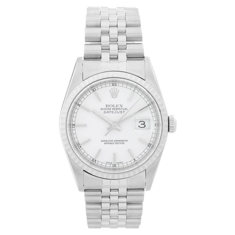 bfecb4c3f901b Rolex Datejust Men's Stainless Steel Watch 16220 For Sale at 1stdibs