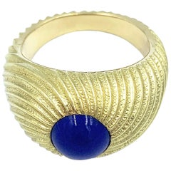 Blue Lapis and 18 Karat Yellow Gold Ring Jean Shlumberger Tiffany & Co.