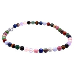 Tiffany & Co. Paloma Picasso Sterling Silver Multi-Gemstone Beaded Necklace
