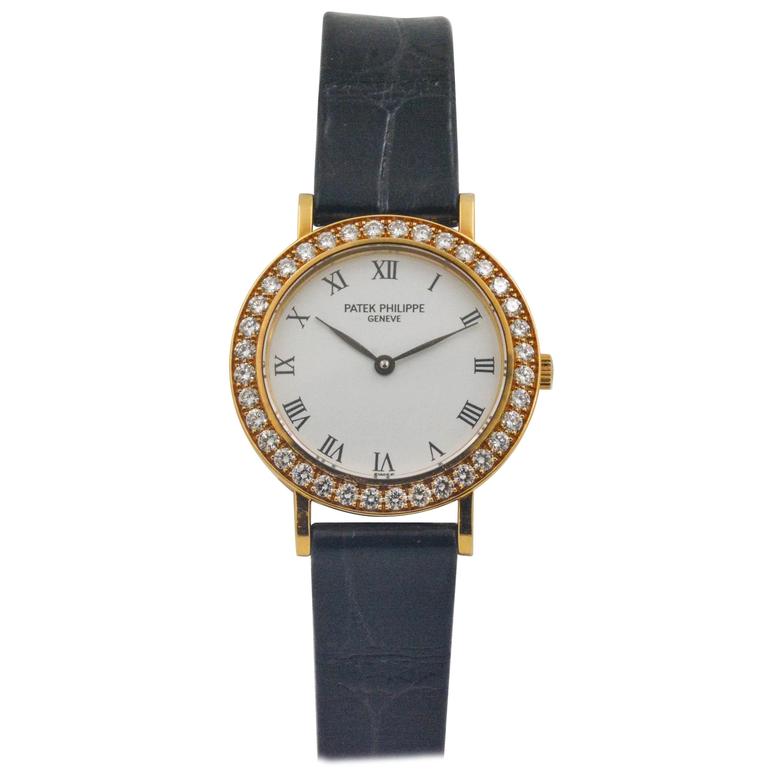 Patek Philippe Nautilus Ladies Rose Gold Watch Diamond Bezel 7010 1r