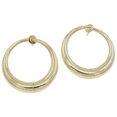 Gold Cartier Hoop Earrings