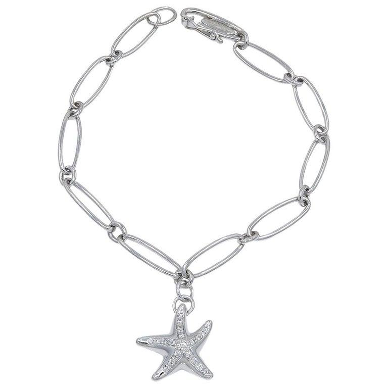fcadd3ea6 Platinum Tiffany and Co. Elsa Peretti Starfish Bracelet For Sale at ...