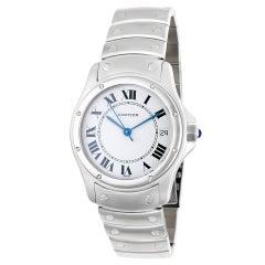 Certified Authentic, Cartier Santos de Cartier 3528, White Dial