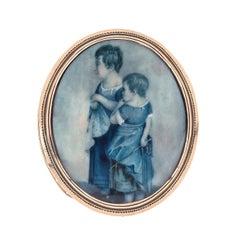 1790 Children Miniature Clasp Bracelet Necklace Gold England