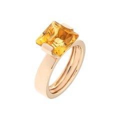 Topaz Rose Gold Band Ring Handcrafted In Italy by Botta Gioielli