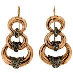 Diamonds 14 Karat Yellow Gold Drop Earrings