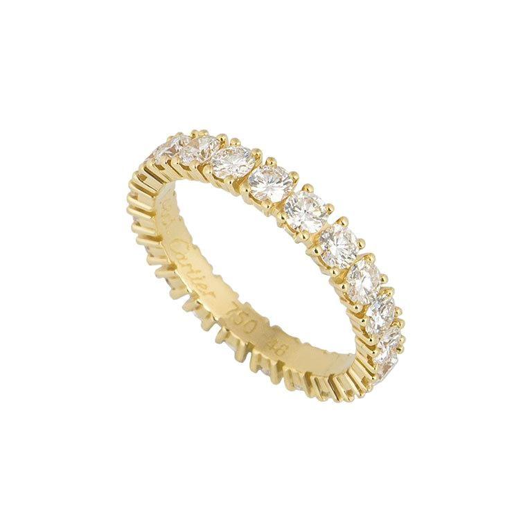 Etincelle Bands: Cartier Yellow Gold Diamond Etincelle De Cartier Eternity