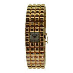 Cartier 18 Karat Rose Gold Art Deco Ladies Wrist Watch by Movado, circa 1940s