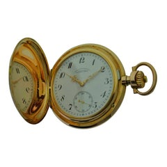 A. Lange & Sohne 14 Karat Solid Gold High Grade Pocket Watch with Flawless Dial