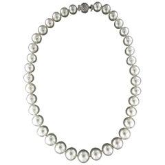 Australian Pearls 18 Karat White Gold Strand Rope Necklace