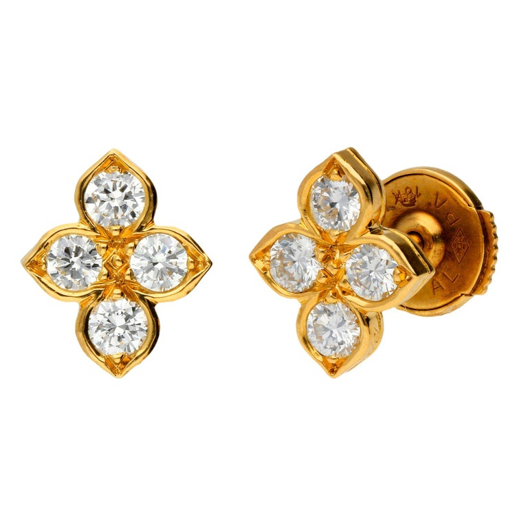 Cartier Pre Owned 0 58ct Diamond Stud Earrings At 1stdibs