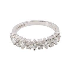 Contemporary 18 Karat White Gold Diamond Cocktail Ring