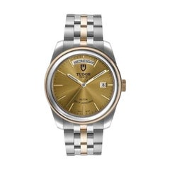 Tudor Glamour Date Day Steel Yellow Gold Men's Watch