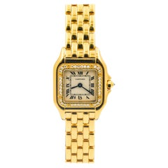 Panthère de Cartier Yellow Gold Diamond Bezel Small Model Ladies Watch