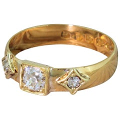Victorian 1883 0.54 Carat Old Cut Diamond Band Ring
