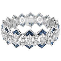 Tiffany & Co. Diamond and Sapphire Bracelet