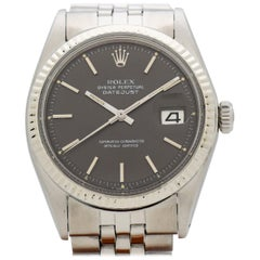 Vintage Rolex Datejust Reference 1601 Watch with a Grey Dial, 1970