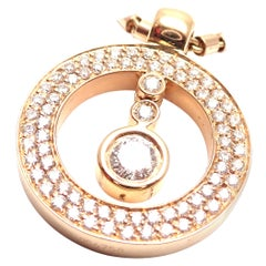 Roberto Coin Cento Diamond Ruby Rose Gold Pendant Necklace
