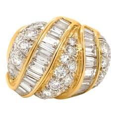 Diamond and 18 Karat Gold Ring
