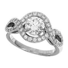 Harry Winston Lily Cluster Diamond 0.70 Carat D-VS1-3Ex Ring