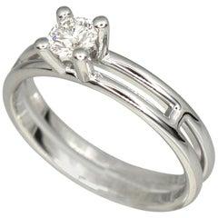 Hermes Diamond 0.25 Carat 18 Karat White Gold Ariane Ring