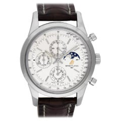 Certified Authentic Breitling Transocean 8940, Silver Dial