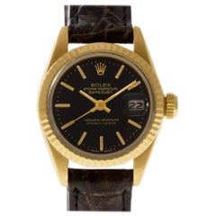 Certified Authentic Rolex Datejust 7056, Black Dial