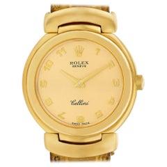 Certified Authentic, Rolex Cellini 4680, Black Dial