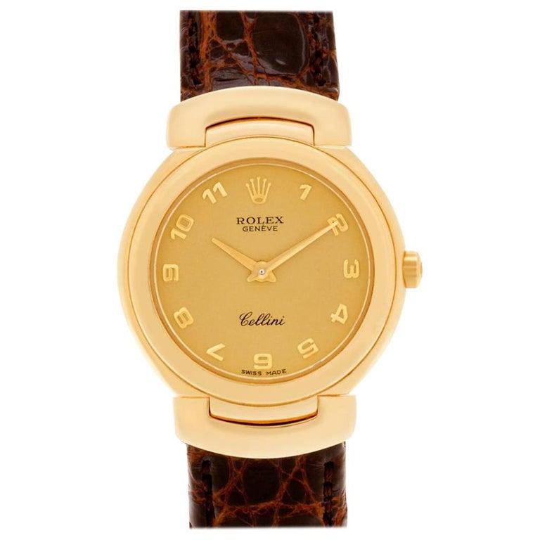 Certified Authentic, Rolex Cellini 5880, Black Dial