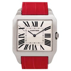 Certified Authentic Cartier Santos Dumont 12600, Gold Dial