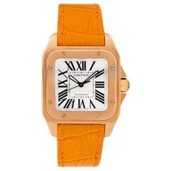 Certified Authentic Cartier Santos 10015360, Pink Dial