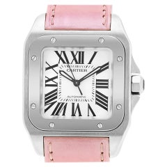 Certified Authentic Cartier Santos 1005040, White Dial