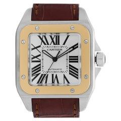 Certified Authentic Cartier Santos 1007056, Blue Dial