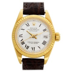Certified Authentic Rolex Datejust 6960, White Dial