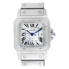 Certified Authentic Cartier Santos de Cartier 4620, White Dial
