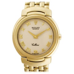 Certified Authentic Rolex Cellini 11400, Gold Dial