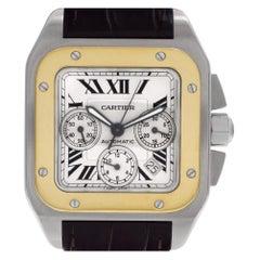 Certified Authentic Cartier Santos 1009828, Gold Dial