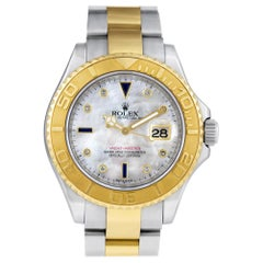 Certified Authentic Rolex Yacht-Master 16680, Gold Dial