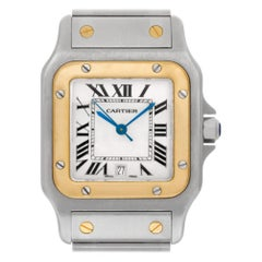 Certified Authentic Cartier Santos Galbee 5040, Blue Dial