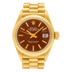 Certified Authentic Rolex Datejust 9000, Gold Dial